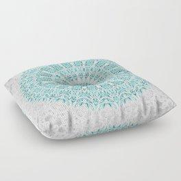 A Glittering Mandala  Floor Pillow