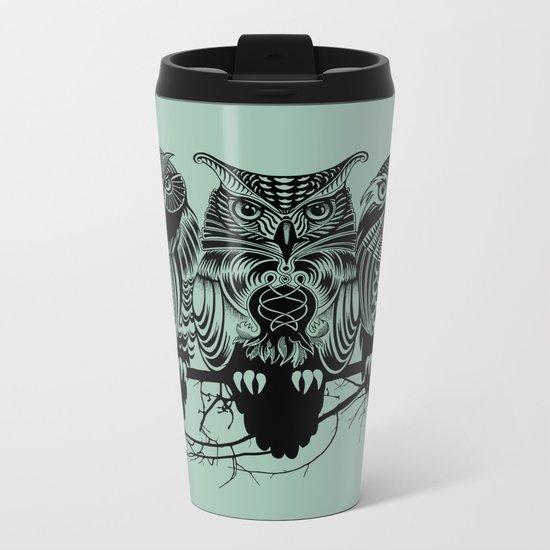 Owls of the Nile Metal Travel Mug