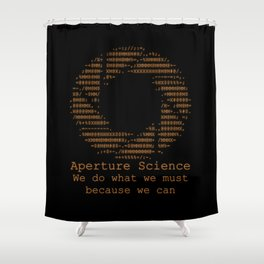 Aperture Science Shower Curtain