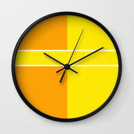 Team Colors 6...yellow,orange Wall Clock