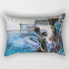 Midnight Sky, Acrylic artwork Rectangular Pillow