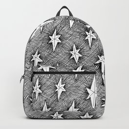 starry doodle pattern Backpack