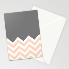 Color Blocked Chevron 12 Stationery Cards