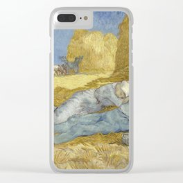 Noon – Rest from Work (after Millet) by Vincent Van Gogh Clear iPhone Case