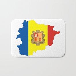 Andorra flag map Bath Mat