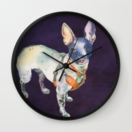 American Hairless Terrier Wall Clock