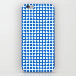 White and Brandeis Blue Diamonds iPhone Skin