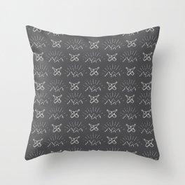 Shite Logo Inversed Throw Pillow