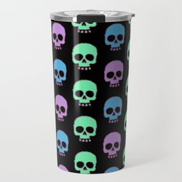 Pastel Candy Skulls Travel Mug