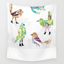 Birds In Boots Wall Tapestry