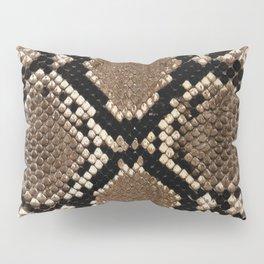 Faux Python Snake Skin Design Pillow Sham