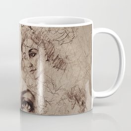 Renaissance Style Life Gesture Drawing Collage Coffee Mug