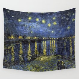 1888-Vincent van Gogh-Starry Night-72x92 Wall Tapestry