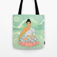 Sacred World: Blue Yogi Tote Bag