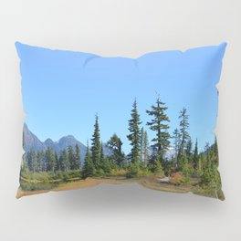 High Mountain Trees Pillow Sham