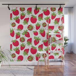 Juicy and ripe strawberries Wall Mural
