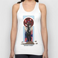 winter soldier Tank Tops featuring Art Nouveau Winter Soldier by Totally Bucky