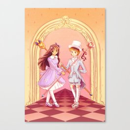 Pastel-wearing guards Canvas Print