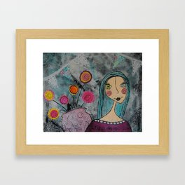 Flowers to Brighten the Day Framed Art Print