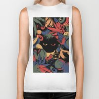 tropical Biker Tanks featuring TROPICAL by A\BESTIAL