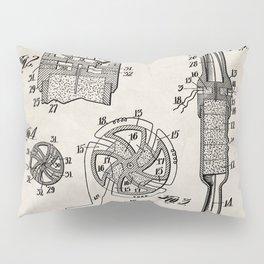 Rocket Ship Patent - Nasa Rocketship Art - Antique Pillow Sham