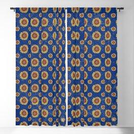 Swirly Sunflower Blackout Curtain