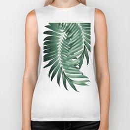 Palm Leaves Tropical Green Vibes #4 #tropical #decor #art #society6 Biker Tank