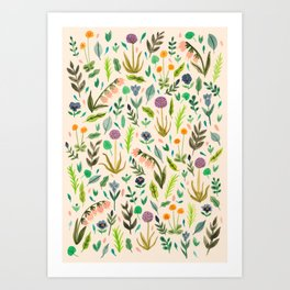Colours from the garden Art Print