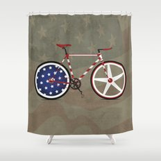Bike America Shower Curtain