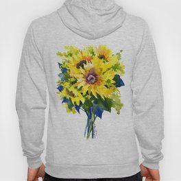 Colors of Summer, Sunflowers, Country style french country design Hoody