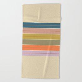 Pastel Stripes Beach Towel