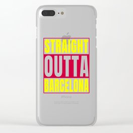 Straight Outta Barcelona graphic Catalonia print Clear iPhone Case
