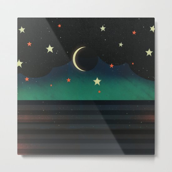 Abstract Moonscape Metal Print