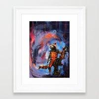 rocket racoon Framed Art Prints featuring Rocket by Wisesnail