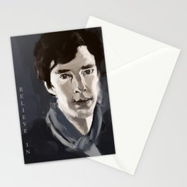 Believe in Sherlock Stationery Cards