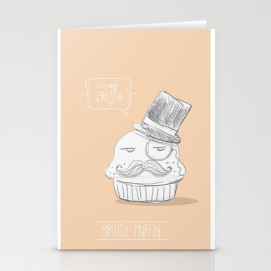 british muffin Stationery Cards