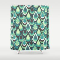 feathers Shower Curtains featuring Feathers by Kakel