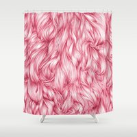 beard Shower Curtains featuring Beard. by Raquel  Carrero .