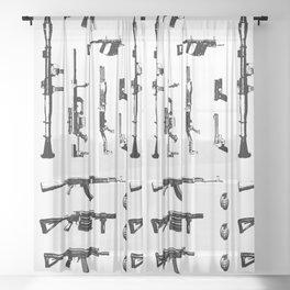 war weapons Sheer Curtain