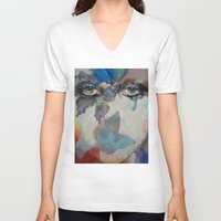 gothic V-neck T-shirts featuring Gothic Butterflies by Michael Creese