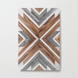 Urban Tribal Pattern No.4 - Wood Metal Print
