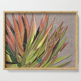 Yucca filifera with beetle Serving Tray