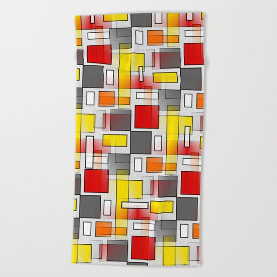 Abstract Layers Beach Towel