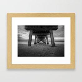 Under Tybee Pier  Framed Art Print