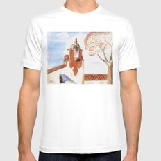 The Firestone Building MEDIUM Mens Fitted Tee White