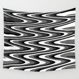 Monochromatic black white slur Wall Tapestry