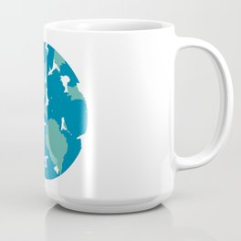 Minimal Planet Earth in Abstract Watercolor Coffee Mug