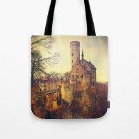 lichtenstein Tote Bags featuring Lichtenstein castle by Renata Arpasova