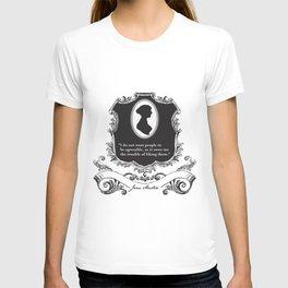 Jane Austen Snarky Quote T-shirt