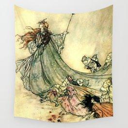 """Queen of the Fairies"" by Arthur Rackham Midsummer's Night Wall Tapestry"